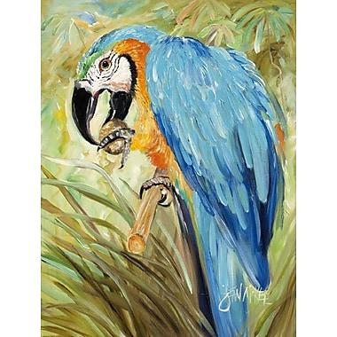 Caroline's Treasures Blue Parrots 2-Sided Garden Flag