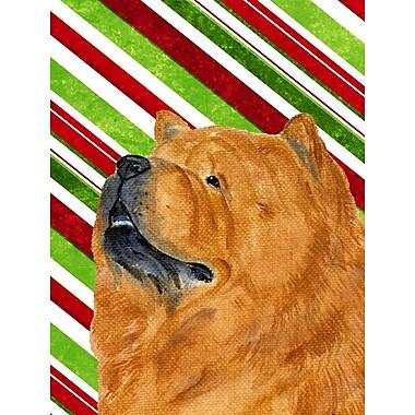 Caroline's Treasures Chow Chow Candy Cane Holiday Christmas 2-Sided Garden Flag