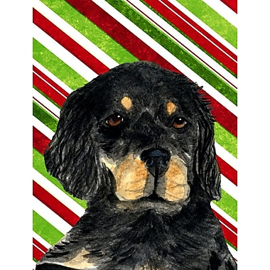 Caroline's Treasures Gordon Setter Candy Cane Holiday Christmas 2-Sided Garden Flag
