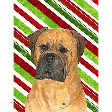 Caroline's Treasures Bullmastiff Candy Cane Holiday Christmas 2-Sided Garden Flag