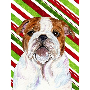 Caroline's Treasures Bulldog English Candy Cane Holiday Christmas 2-Sided Garden Flag