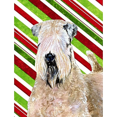 Caroline's Treasures Wheaten Terrier Soft Coated Candy Cane Holiday Christmas 2-Sided Garden Flag