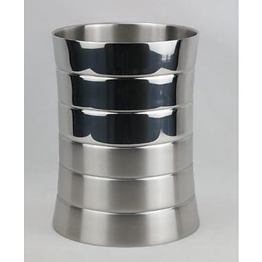 Hopeful Enterprise Metal 1.32 Gallon Waste Basket; Shiny