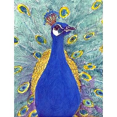 Caroline's Treasures Peacock House Vertical Flag