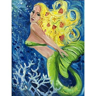 Caroline's Treasures Blonde Mermaid House Vertical Flag