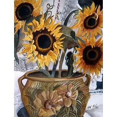 Caroline's Treasures Pot of Sunflowers House Vertical Flag