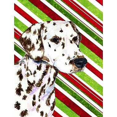 Caroline's Treasures Dalmatian Candy Cane Holiday Christmas 2-Sided Garden Flag