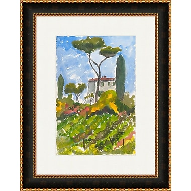 Melissa Van Hise Country French House On A Hill by Pat Ryan Framed Painting Print