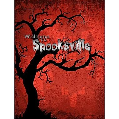Caroline's Treasures Welcome to Spooksville Halloween House Vertical Flag