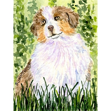 Caroline's Treasures Australian Shepherd 2-Sided Garden Flag