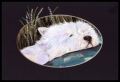 Caroline's Treasures Westie Doormat; Rectangle 2' x 3'