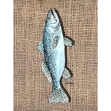 Caroline's Treasures Fish Speckled Trout House Vertical Flag