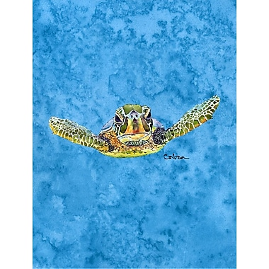 Caroline's Treasures Turtle Coming at you House Vertical Flag