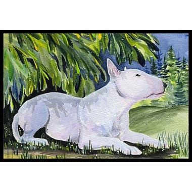 Caroline's Treasures Bull Terrier Doormat; Rectangle 1'6'' x 2' 3''
