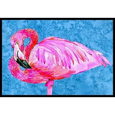 Caroline's Treasures Flamingo Doormat; Rectangle 2' x 3'