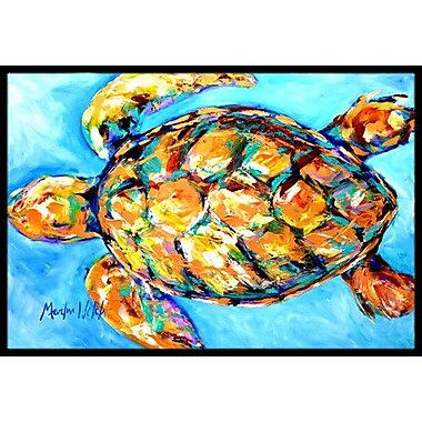 Caroline's Treasures Sand Dance Turtle Doormat; Rectangle 2' x 3'