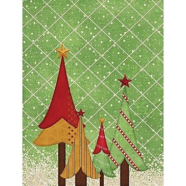 Caroline's Treasures Folk Art Christmas Trees 2-Sided Garden Flag