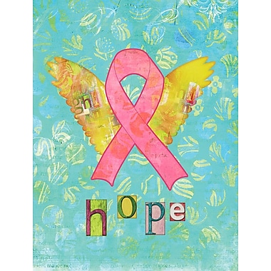 Caroline's Treasures Hope Angel Breast Cancer Pink Ribbon 2-Sided Garden Flag