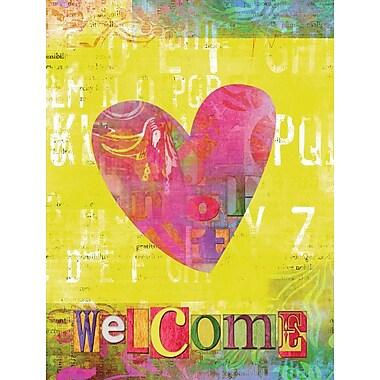 Caroline's Treasures Artsy Welcome Heart 2-Sided Garden Flag