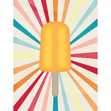 Caroline's Treasures Orange Popsicle 2-Sided Garden Flag
