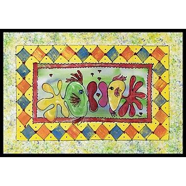 Caroline's Treasures Fish Kissing Fish Doormat; Rectangle 1'6'' x 2' 3''