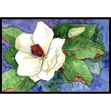 Caroline's Treasures Flower - Magnolia Doormat; Rectangle 1'6'' x 2' 3''