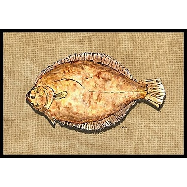 Caroline's Treasures Flounder Doormat; Rectangle 2' x 3'
