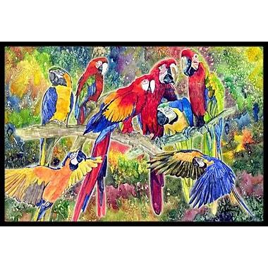 Caroline's Treasures Parrot Doormat; Rectangle 2' x 3'