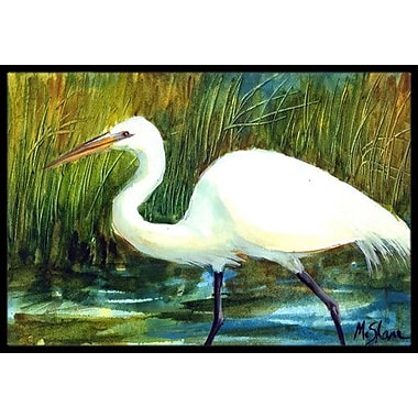 Caroline's Treasures Egret Bird Doormat; Rectangle 1'6'' x 2' 3''