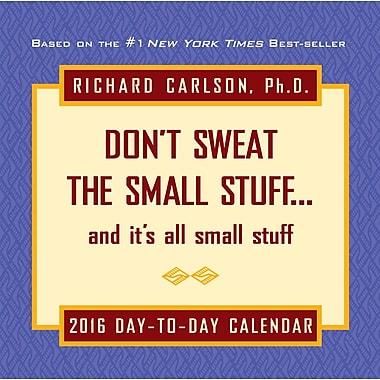 BrownTrout Publishers – Calendrier perpétuel 2016 en boîte, Don't Sweat the Small Stuff, anglais