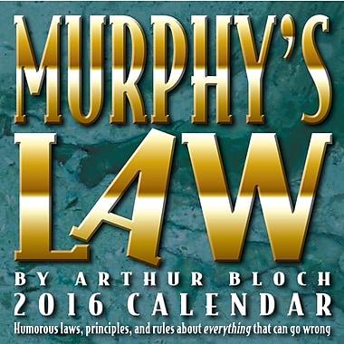 BrownTrout Publishers – Calendrier perpétuel 2016 en boîte, Murphy's Law, anglais
