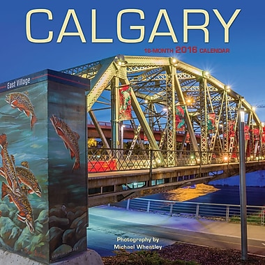 BrownTrout Publishers – Calendrier mural 2016, 12 mois, Calgary, 7 x 7 po, anglais