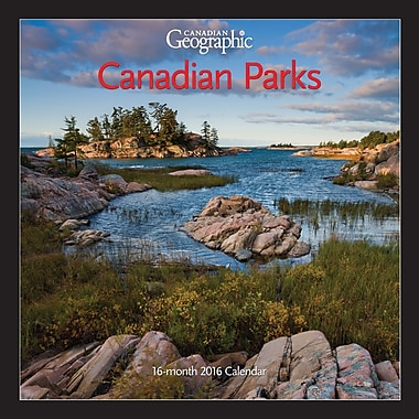 BrownTrout Publishers – Calendrier mural 2016, 12 mois, Canadian Parks, 7 x 7 po, anglais