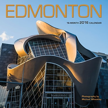 BrownTrout Publishers – Calendrier mural 2016, 12 mois, Edmonton, 7 x 7 po, anglais