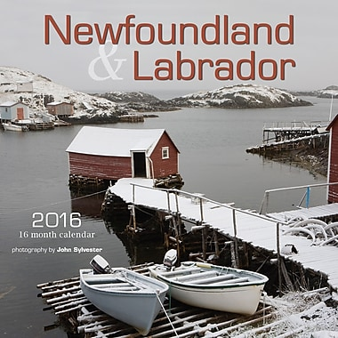BrownTrout Publishers – Calendrier mural 2016, 12 mois, Newfoundland & Labrador, 7 x 7 po, anglais