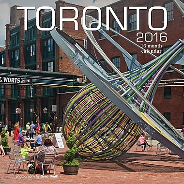 BrownTrout Publishers – Calendrier mural 2016, 12 mois, Toronto, 7 x 7 po, anglais