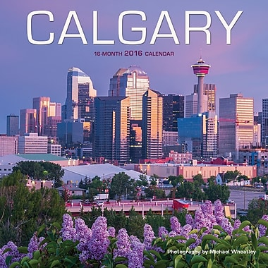 BrownTrout Publishers – Calendrier mural 2016, 12 mois, Calgary, 12 x 12 po, anglais