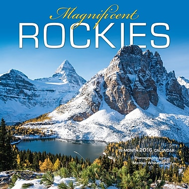 BrownTrout Publishers – Calendrier mural 2016, 12 mois, Rockies, 12 x 12 po, anglais