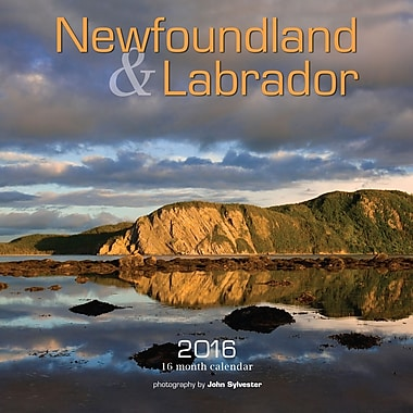 BrownTrout Publishers – Calendrier mural 2016, 12 mois, Newfoundland & Labrador, 12 x 12 po, anglais
