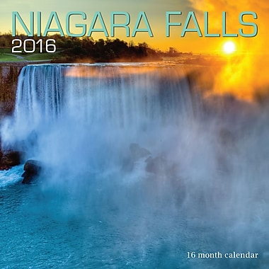 BrownTrout Publishers – Calendrier mural 2016, 12 mois, Niagara Falls, 12 x 12 po, anglais
