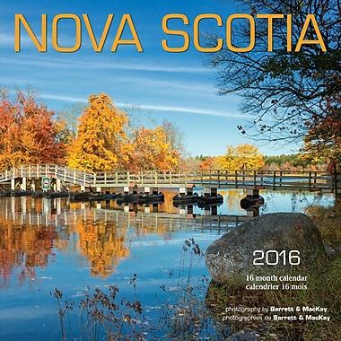 BrownTrout Publishers – Calendrier mural 2016, 12 mois, Nouvelle-Écosse, 12 x 12 po, bilingue