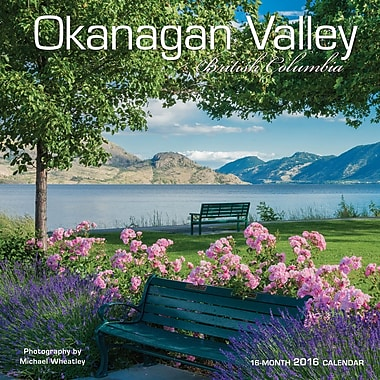 BrownTrout Publishers – Calendrier mural 2016, 12 mois, Okanagan Valley, 12 x 12 po, anglais