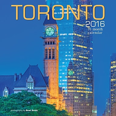 BrownTrout Publishers – Calendrier mural 2016, 12 mois, Toronto, 12 x 12 po, anglais