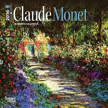BrownTrout Publishers – Calendrier mural 2016, 12 mois, Claude Monet, 7 x 7 po, bilingue