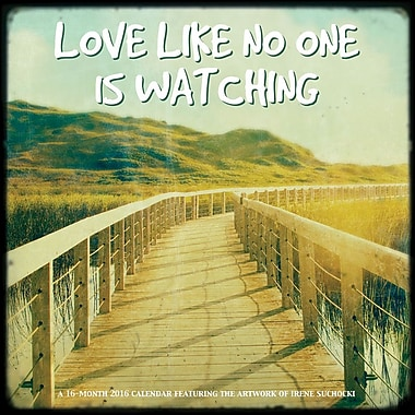 BrownTrout Publishers – Calendrier mural 2016, 12 mois, Love Like No One Is Watching, 12 x 12 po, anglais