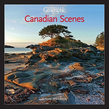 BrownTrout Publishers – Calendrier mural 2016, 12 mois, Canadian Geographic Canadian Scenes, 12 x 12 po, anglais