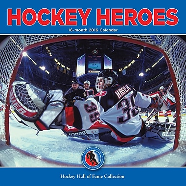 BrownTrout Publishers – Calendrier mural 2016, 12 mois, Hockey Heroes, 12 x 12 po, anglais
