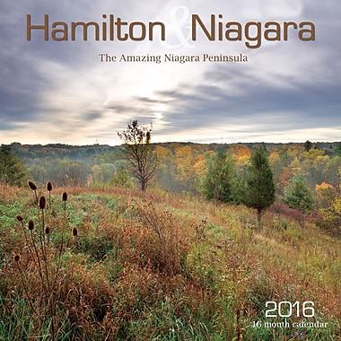 BrownTrout Publishers – Calendrier mural 2016, 12 mois, Hamilton/Niagara, 12 x 12 po, anglais