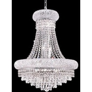 Elegant Lighting Primo 14 Light Chandelier w/ 4 Crystal Trims; 24'' / Chrome / Elegant Cut