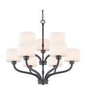 Dolan Designs Kalina 9-Light Shaded Chandelier; Warm Bronze